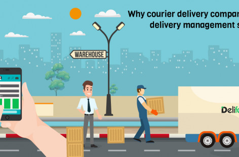 Courier delivery tracking management software