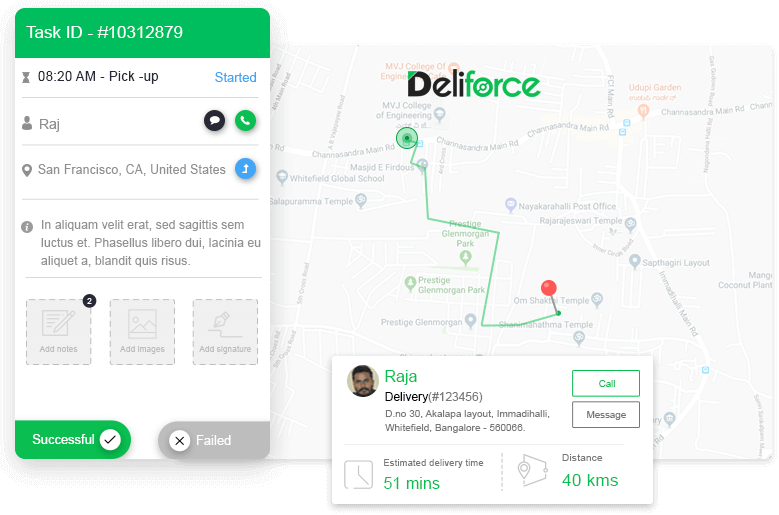 Delivery Tracking & Alerts for Customers/Managers